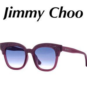 Jimmy Choo Sunglasses Purple Sparkle NEW